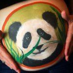 Panda baby bump art