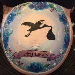 Bump painting stork