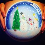 christmas snow globe bump painting