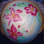 Floral bump paint
