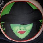 Elpheba wicked witch bump paint