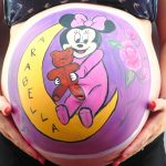 Minnie mouse baby bump painting