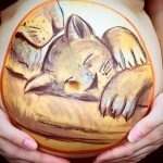 Baby bump art