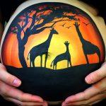 Giraffes silhouette art