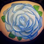 Vintage rose bump painting