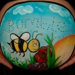 Belly painting art