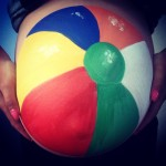 Beach ball baby bump