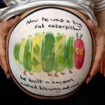 The very hungry caterpillar baby bump painting